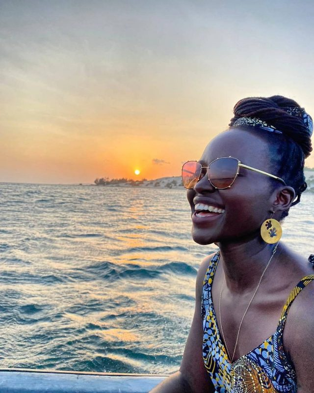 Up and about: Why Lupita just can't seem to stay away from Lamu. (https://twitter.com/Lupita_Nyongo)