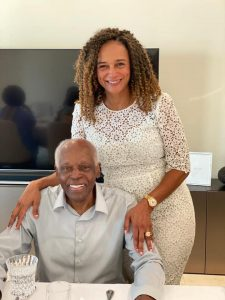 Angola's ex-president, Jose Eduardo dos Santos and his daughter Isabel dos Santos. (Facebook)